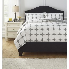 Cyrun Gray Queen Duvet Set