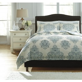 Fairholm Turquoise King Duvet Cover Set