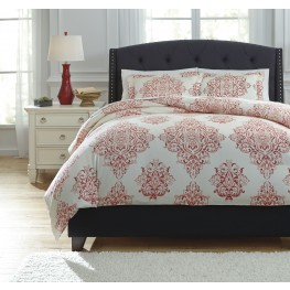 Fairholm Red King Duvet Cover Set