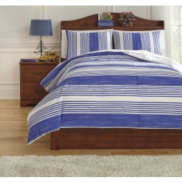 Taries Blue Twin Duvet Cover Set