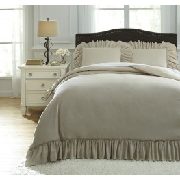 Clarksdale Natural King Duvet Cover Set