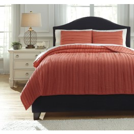 Solsta Coral King Coverlet Set