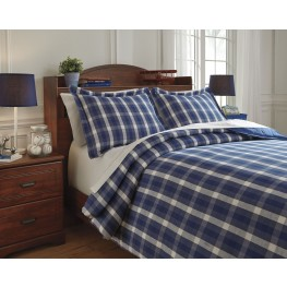 Baret Blue Full Duvet Cover Set