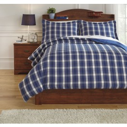Baret Blue Twin Duvet Cover Set