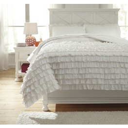 Aaronas White Full Duvet Cover Set