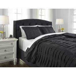Voltos Charcoal Queen Duvet Cover Set