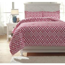 Loomis Fuchsia Full Comforter Set