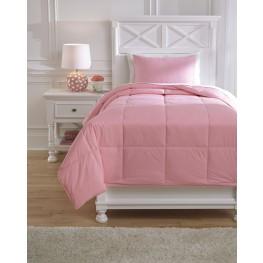 Plainfield Pink Twin Comforter Set