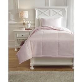Plainfield Soft Pink Twin Comforter Set