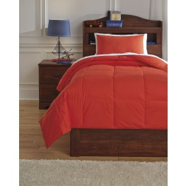 Plainfield Red Full Comforter Set
