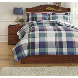 Mannan Plaid Full Comforter Set