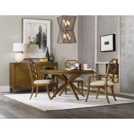"Retropolitan Brown 52"" Round Extendable Dining Room Set"