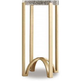 Skyline Gold Metal Accent Table