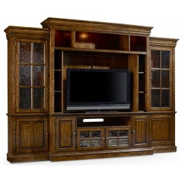 Brantley Brown Entertainment Wall Unit