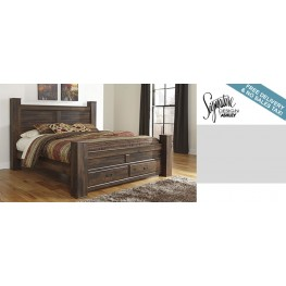 Quinden Queen Poster Storage Bed