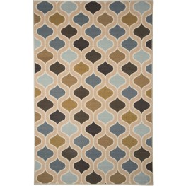 Aarushi Blue and Brown Medium Rug