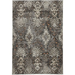Vidonia Gray and Taupe Large Rug
