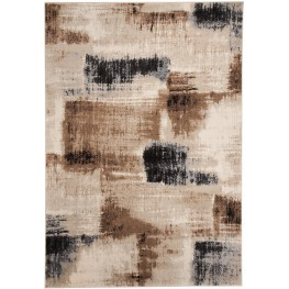 Calvin Brown and Black Medium Rug