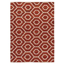 Flatweave Burnt Orange Large Rug