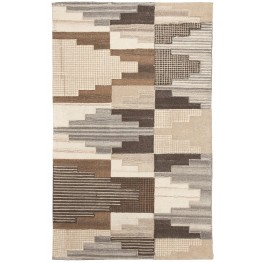 Watnick Brown and Gray Medium Rug
