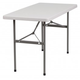 "24"" Granite White Plastic Folding Table"