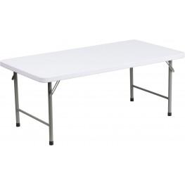 "48"" Granite White Kid's Plastic Folding Table"