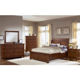 Reflections Medium Cherry Sleigh Storage Bedroom Set