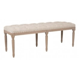 Rennes Stone Wash Upholstered Dining Bench