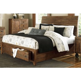 River Ridge Cal. King Island Bed with Storage Footboard