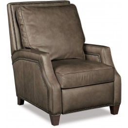 Caleigh Beige Leather Recliner