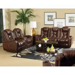 Evolution Jamestown Brown Fabric Power Reclining Living Room Set