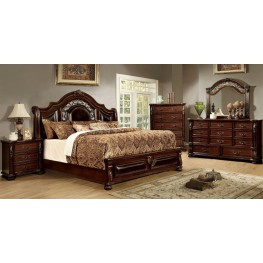 Flandreau Brown Panel Bedroom Set