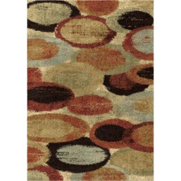 Majestic Shag Plush Circles and Rings Pulpit Multi Large Area Rug