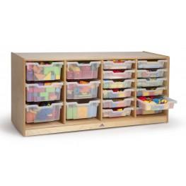 Clear Tray Quad Storage Cabinet