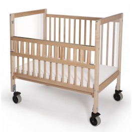 Infant Clear View Folding Rail Crib