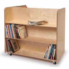 Two Sided Mobile Library Cart