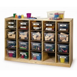 Cubby Storage Cabinet With 20 Trays