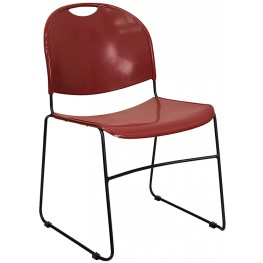 Hercules Burgundy High Density Ultra Compact Stack Chairame
