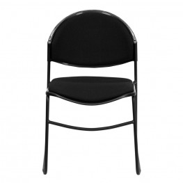 Hercules Black Padded Stack Chair W/ Black Powder Coated Frame Finish