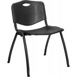 Hercules Black Polypropylene Stack Chair