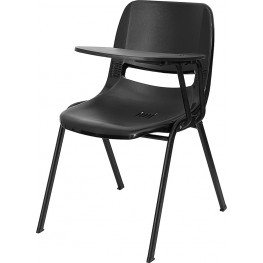 Black Shell Chair with Left Handed Tablet Arm