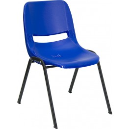 Hercules Blue Ergonomic Shell Stack Chair