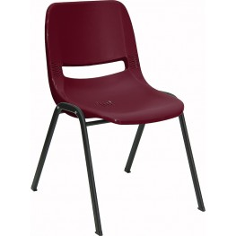 Hercules Burgundy Ergonomic Shell Stack Chair