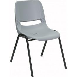 Hercules Gray Ergonomic Shell Stack Chair