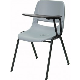 Gray Shell Chair with Left Handed Tablet Arm