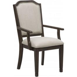 Hamilton Brown Arm Chair Set of 2