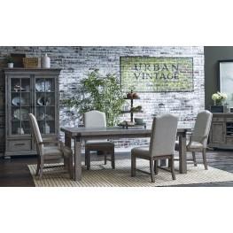 Prospect Hill Gray Rectangular Extendable Leg Dining Room Set