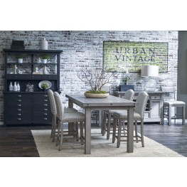 Prospect Hill Gray Rectangular Counter Height Dining Room Set