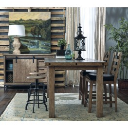 Flatbush Brown Rectangular Counter Height Dining Room Set