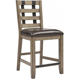 Flatbush Brown Metal Strap Gathering Chair Set of 2
